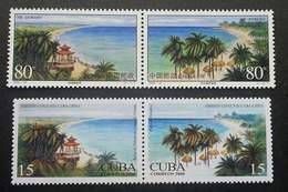 China - Cuba Joint Issue Beach 2000 Beaches (stamp Pair) MNH - 1949 - ... Volksrepublik