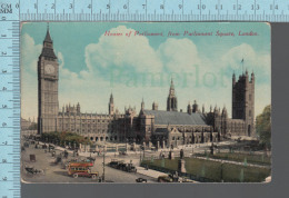 London - Animated Around House Of Parliament, From Parliament Square - ED: M&L #7501 - Publicité