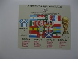 Paraguay  1978 World Cup Football MICHEL No.BL 320 - Coppa Del Mondo