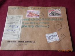 Lettre Chargee D Andorre 1973 - Andorra Francese