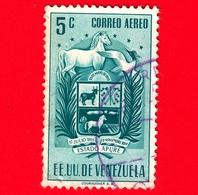VENEZUELA - Usato - 1953 - Stemma Dello Stato Di Apure - Arms - 5 P. Aerea - Venezuela