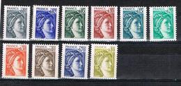 FRANCE NEUF Sabine De Gandon 10 Valeurs Faciales - Unused Stamps