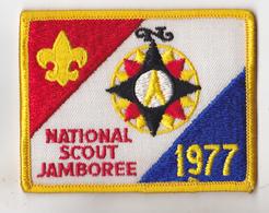 ECUSSON EN TISSU NATIONAL SCOUTISME  SCOUT  JAMBOREE 1977 - Patches
