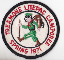 ECUSSON EN TISSU SCOUTISME  TREAMONE LITEPAC CAMPOREE SPRING 1971 - Patches