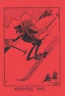 AK - Gruss Vom Krampus  - Auf Skiern - 1945 - Holidays & Celebrations