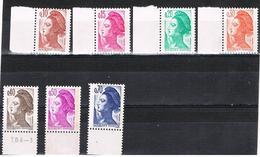 FRANCE NEUF Liberté De Gandon 7 Valeurs Faciales - Unused Stamps