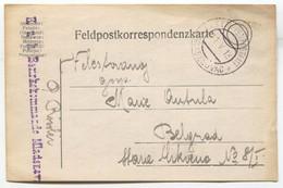 K.u.K. Feldpost Card 1918. Seal Mladenovac Serbia - WW1