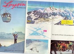 Brochure Dépliant Faltblatt Toerisme Tourisme - Leysin Suisse Schweiz - Ski - Ca 1960 - Dépliants Touristiques