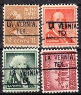 USA Precancel Vorausentwertung Preo, Locals Texas, La Vernia 802, 4 Diff. - Vereinigte Staaten