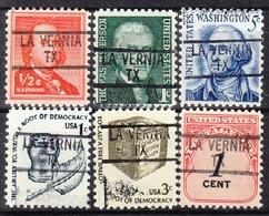 USA Precancel Vorausentwertung Preo, Locals Texas, La Vernia 839, 6 Diff. - Vereinigte Staaten