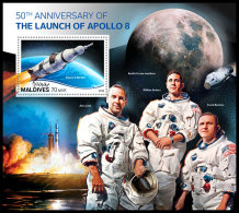 MALDIVES 2018 MNH** Apollo 8 Space Raumfahrt Espace S/S - OFFICIAL ISSUE - DH1831 - Asie