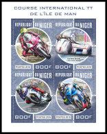NIGER 2018 MNH** Motorracing TT Isle Of Man Motorräder Motos M/S - IMPERFORATED - DH1831 - Motos