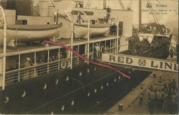Antwerpen - Anvers : Départ D'un Steamer De La RED STAR LINE ( Written Card With Stamp ) - Antwerpen