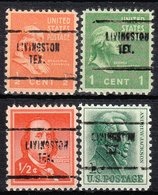 USA Precancel Vorausentwertung Preo, Locals Texas, Livingston 704, 4 Diff. - Vereinigte Staaten