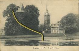 Enghien :  Le Parc , Chapelle Et Etang : ( Ecrit Avec Timbre ) - Edingen