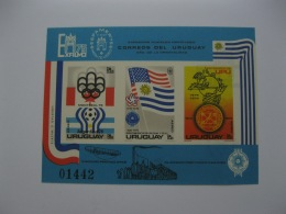 Uruguay 1979 Issue  1978 World Cup Football 1976 Olympic Games  MICHEL No.BL28 Imperf - 1978 – Argentine