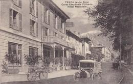 Cpa Italie - Tenda - Corso Emanuele Filiberto Hôtel Nazionale (voir Scan Recto-verso) - Italie