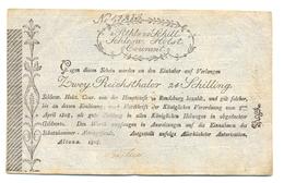 ASSIGNAT DU SCLESWIG-HLSTEIN 1808 - 2 REICHSTHALERS ET 24 SCHILLINGS - …-1871: Altdeutschland