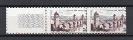 - FRANCE - Variété N° 1039e - 12 F. Pont Valentré 1955 - PIQUAGE A CHEVAL - Cote 85 EUR - - Variétés Et Curiosités