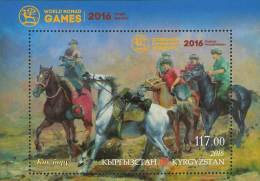 Kyrgyzstan 2016 World Nomad Games Horses SS MNH - Kyrgyzstan
