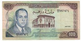 Morocco 100 Dirhams 1985 Repaired - Marocco