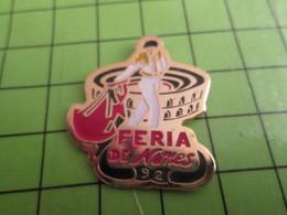 613a Pin's Pins / Beau Et Rare : Thème SPORTS / TAUROMACHIE CORRIDA TORERO FERIA DE NIMES 92 - Corrida