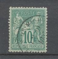 France Classique SAGE N°76 10c Vert Type II N/U. Cote 325€. TTB. X2935 - 1876-1878 Sage (Type I)