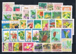Motiv Lot/Posten Blumen/Pflanzen Gestempelt - Lots & Kiloware (mixtures) - Max. 999 Stamps