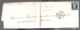 Baronne Carayon La Tour, Përignon> Mariage  J. Rogniat&Vicomte Chateaubriand 1857 > Conseil Géneral Ouradou, Brasse (EO7 - 1853-1860 Napoléon III