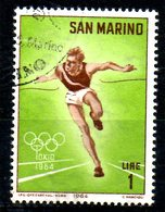 SAINT-MARIN. N°615 De 1964 Oblitéré. J.O. De Tokyo/Athlétisme. - Summer 1964: Tokyo