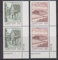 Faroe Islands 1978 National Library 2v (pair, Corner) ** Mnh (40023A) - Faeroër