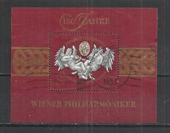 AUSTRIA 1992 - WIENER PHILARMONIC ORCHESTRA - S/S - OBLITERE USED GESTEMPELT USADO - 1945-.... 2ème République