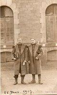 86Cps  Photo Cartonnée Militaires Soldats 35 Eme Regiment Baionnette En 1907 - Uniformen