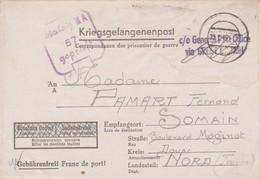 Prisonnier Français Stalag IIIA Après La Libération / Griffe C/O General Post Office Via Great-Britain - Cartas