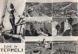 TERMOLI CAMPOBASSO VISTA DA PIU' ANGOLAZIONI ANIMATA VIAGG1956 - Campobasso