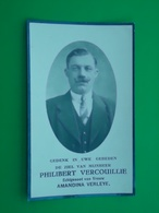 Philibert Vercouillie - Verleye Geboren Te Lombartzyde 1893 En Overleden Te Westende 1936    (2scans) - Religion & Esotérisme