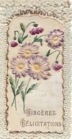 CARTE CELLULO  ,,,,, SINCERES  FELICITATIONS ,,,,TBE ,,,,1907,,,,,7 X 13  Cm - Cartes Postales