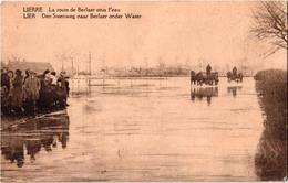 1 Postkaart  Lier Lierre    Steenweg Naar Berlaar Berlaer   Onder Water - Lier