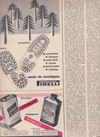 (pagine-pages)PUBBLICITA' PIRELLI  Epoca1953/154r. - Books, Magazines, Comics
