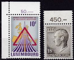 1986, Luxemburg, 1150,Großherzog Jean +1162, Verkehrssicherheit. MNH ** - Luxemburgo