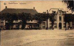 1 Postkaart   Baarle -Nassau    Plein  Café Holland Hotel Stalling  Gemeentehuis - Baarle-Hertog