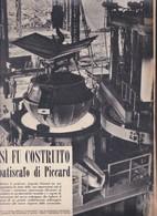(pagine-pages)IL BATISCAFO DI AUGUSTE PICCARD  Epoca1953/157r. - Other