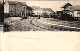 1 Postkaart    Broechem  Stoomtram  Station  Vicinal  Statie  Plein Stelplaats   Tram à Vapeur   Buurtspoorweg  Reklame - Ranst