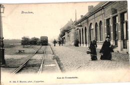 1 Postkaart  Broechem Stoomtram  Station  Vicinal  Statie  Plein Stelplaats  Tram à Vapeur Buurtspoorweg  Hoelen  N°258 - Ranst