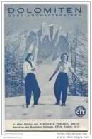 Dolomiten 1938 - CIT Gesellschaftsreisen - 16 Seiten Mit 9 Abbildungen - Italia