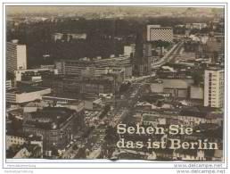 Sehen Sie Das Ist Berlin 1961 - 16 Seiten 10cm X 14cm Mit 8 Abbildungen - Berlin
