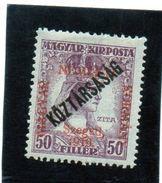B - 1919 Ungheria - Szeged - Soprastampa Koztarsasag Su Soprastampa Magyar Nemzeti Kormany (linguellati) - Emissioni Locali