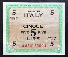 5 Am Lire 1943 Bilingue A....A Flc Sup  LOTTO 2196 - [ 3] Military Issues
