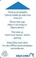 FINLANDIA KEY CABIN  Silja Line (Shipping Company) - DIFFERENT TYPE - Hotel Keycards