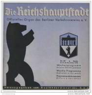 Die Reichshauptstadt 1938 - Offizielles Organ Des Berliner Verkehrs-Vereins E.V. - Kino- Theater-Programm Etc. - Brandenburg